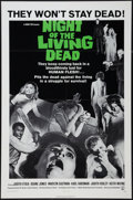 "Movie Posters:Horror, Night of the Living Dead (Continental, 1968). One Sheet (27"" X41""). Horror.. ..."