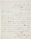 Autographs:Military Figures, Major General John A. Logan Autograph Letter Signed ...
