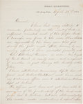 Autographs:Military Figures, John A. McClernand Letter Signed....