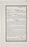 Autographs:U.S. Presidents, [Abraham Lincoln] Funeral Order: General Orders No. 66....