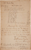 Autographs:Military Figures, Whiskey Rebellion: Payment to a Surgeon....