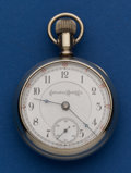 Timepieces:Pocket (post 1900), Columbus 16 Jewel 18 Size Display Case Pocket . ...
