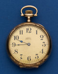 Timepieces:Pocket (post 1900), Abbott Sure Time By Howard 17 Jewel 16 Size. ...
