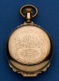 Timepieces:Pocket (post 1900), Elgin 18 Size Box Hinged Hunter's Case Pocket Watch. ...