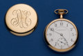 Timepieces:Pocket (post 1900), Washington Watch Co 17 Jewel Liberty Bell 16 Size by Illinois Pocket Watch. ...