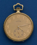 Timepieces:Pocket (post 1900), Illinois 21 Jewel 12 Size Abe Lincoln Pocket Watch. ...