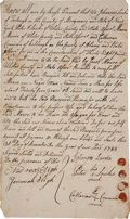"Military & Patriotic:Civil War, [Slavery] 1788 New York Slave Bill of Sale - ""one Negro man Named Tom a Slave for life""...."