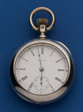 Timepieces:Pocket (post 1900), Elgin 5 Oz 18 Size Coin Silver B.W. Raymond Pocket Watch. ...