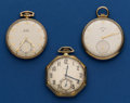 Timepieces:Pocket (post 1900), Three Elgin 12 Size Pocket Watches Runners. ... (Total: 3 Items)