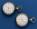 Timepieces:Pocket (post 1900), Two Waltham 18 Size Pocket Watches Runners. ... (Total: 2 Items)