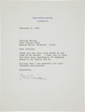 Autographs:U.S. Presidents, Bill Clinton Typed Letter Signed as President....