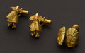 Estate Jewelry:Cufflinks, Two Gold Cufflink Sets. ... (Total: 2 Items)