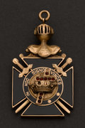 Estate Jewelry:Other , Antique Gold Masonic Fob. ...