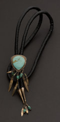Estate Jewelry:Other , Turquoise & Silver Bolo. ...