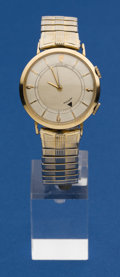 Timepieces:Wristwatch, LeCoultre Gold Filled Wrist Alarm. ...