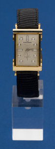 Timepieces:Wristwatch, Longines 14k Gold Diamond Dial Wristwatch. ...