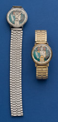 Timepieces:Wristwatch, Two Bulova Spaceview's Wristwatches. ... (Total: 2 Items)