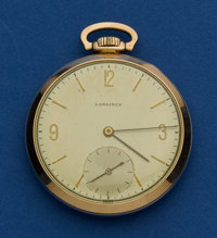 Longines 14k Gold 12 Size Pocket Watch