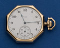 Timepieces:Pocket (post 1900), Elgin 14k Gold 12 Size Swing Out Pocket Watch. ...