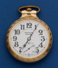 Timepieces:Pocket (post 1900), Burlington Bull Dog 21 Jewel 16 Size Pocket Watch. ...
