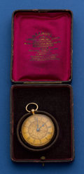 Timepieces:Pocket (pre 1900) , Edwin Flinn 18k Gold 44 mm Lever Fusee Pocket Watch. ...