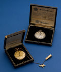 Timepieces:Pocket (post 1900), Hamilton & Illinois 12 Sizes Pocket Watches With Boxes Runners. ... (Total: 2 Items)