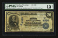 National Bank Notes:Wyoming, Rawlins, WY - $20 1902 Plain Back Fr. 653 The First NB Ch. #(W)4320. ...