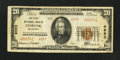 National Bank Notes:Oklahoma, Cushing, OK - $20 1929 Ty. 2 The First NB Ch. # 6893. ...