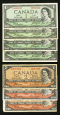 Canadian Currency: , Devil's Face Coiffure Fine or Better.. ... (Total: 7 notes)