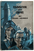 "Books:Signed Editions, Isaac Asimov. Foundation and Empire. New York: Gnome,[1952]. First edition (binding state ""B"" as per Currey). Ins..."
