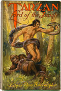 Books:First Editions, Edgar Rice Burroughs. Tarzan Lord of the Jungle. Chicago: A.C. McClurg, 1928. First edition. Octavo. 377 pages....