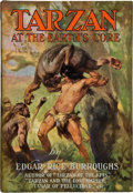 Books:First Editions, Edgar Rice Burroughs. Tarzan at the Earth's Core. New York;Metropolitan Books, 1930. First edition (binding state A...