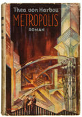Books:First Editions, Thea von Harbou. Metropolis. Berlin: August Scherl, 1926.First edition. In German. Octavo. 274 pages. Five pages of...