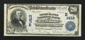 National Bank Notes:Maryland, Baltimore, MD - $20 1902 Plain Back Fr. 658 The Merchants NB Ch. #(E)1413. ...