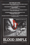 """Movie Posters:Thriller, Blood Simple (Circle Films, 1984). Poster (24"""" X 37""""). Thriller.. ..."""