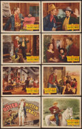 """Movie Posters:Western, Hittin' the Trail (Grand National, 1937). Lobby Card Set of 8 (11"""" X 14""""). Western.. ... (Total: 8 Items)"""