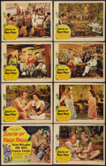 "Movie Posters:Adventure, South of Pago Pago (United Artists, 1940). Lobby Card Set of 8 (11"" X 14""). Adventure.. ... (Total: 8 Items)"