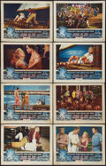 """Movie Posters:Adventure, Pearl of the South Pacific (RKO, 1955). Lobby Card Set of 8 (11"""" X14""""). Adventure.. ... (Total: 8 Items)"""