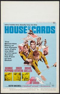 """House of Cards and Other Lot (Universal, 1969). Window Cards (2) (14"""" X 22""""). Thriller. ... (Total: 2 Items)"""