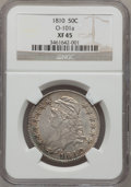 Bust Half Dollars: , 1810 50C XF45 NGC. O-101a. NGC Census: (61/289). PCGS Population(62/284). Mintage: 1,276,276. Numismedia Wsl. Price for p...