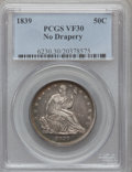Seated Half Dollars: , 1839 50C No Drapery VF30 PCGS. PCGS Population (15/166). NGCCensus: (8/122). Mintage: 100,000. Numismedia Wsl. Price for p...