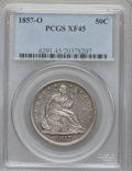Seated Half Dollars: , 1857-O 50C XF45 PCGS. PCGS Population (13/48). NGC Census: (4/35).Mintage: 818,000. Numismedia Wsl. Price for problem free...