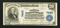 National Bank Notes:District of Columbia, Washington, DC - $20 1902 Plain Back Fr. 650 The Commercial NB Ch. # 7446. ...