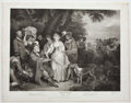 Antiques:Posters & Prints, Engraved Print from Boydell's Shakespeare Entitled,Winter's Tales. Cheapside: J. & J. Boydell, 1792...