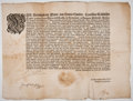 Antiques:Posters & Prints, Ferdinand III, Holy Roman Emperor, King of Germany, King ofHungary, and King of Bohemia. Printed Edict....