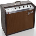 Musical Instruments:Amplifiers, PA, & Effects, 1960's Gibson Scout GA-17 RVT Brown Guitar Amplifier #731600...