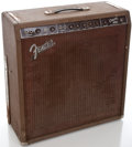 Musical Instruments:Amplifiers, PA, & Effects, 1960's Fender Concert-Amp Project Brown Guitar Amplifier #04840...