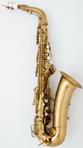 Musical Instruments:Horns & Wind Instruments, 1941 Conn Naked Lady Brass Alto Saxophone #331094...