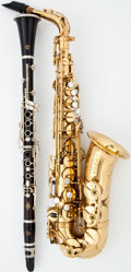 Musical Instruments:Horns & Wind Instruments, 1974 Selmer Mark VI and Clarinet Lacquer Alto Saxophone #M.225306...