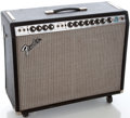 Musical Instruments:Amplifiers, PA, & Effects, 1970's Fender Twin Reverb Siverface Guitar Amplifier #B57398...